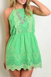 Available Green Embroidered Dress - Product Mini Image