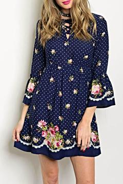 Available Navy Print Dress - Product List Image