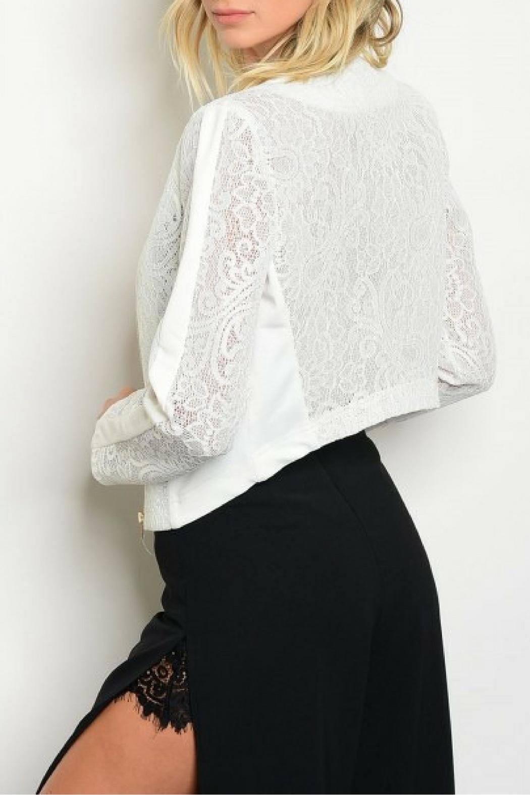 Available White Lace Jacket - Front Full Image