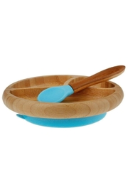 Avanchy Bamboo Stay Put Plate - Front cropped