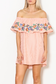 Avanti Embroidered Off Shoulder - Front full body
