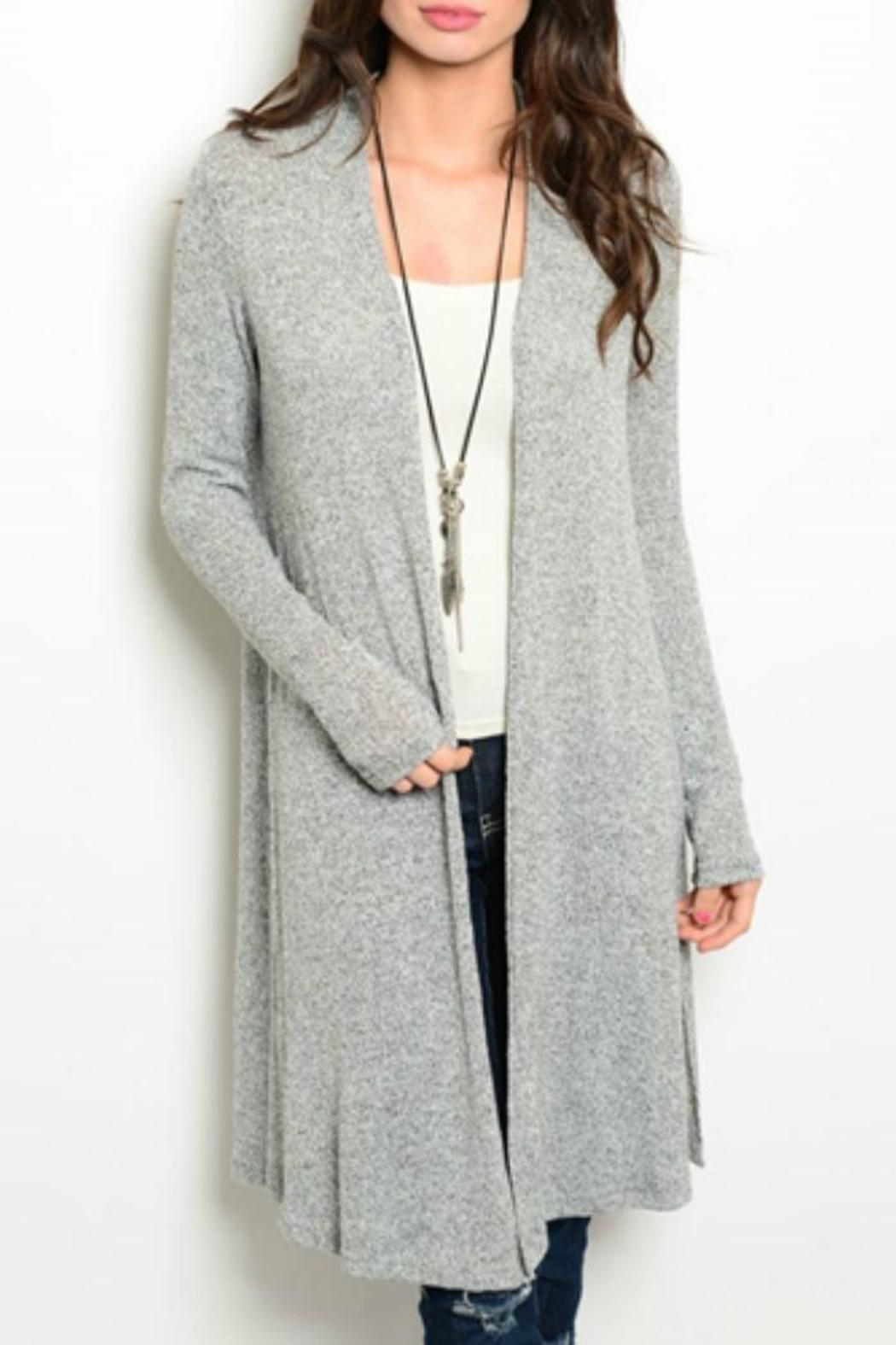 Avec Long Grey Open Cardigan from Wisconsin by The Fresh Boutique ...