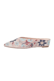 AVEC LES FILLES Almond-Toe Embroidered Mule - Product Mini Image
