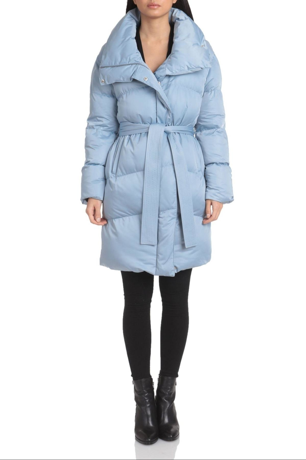 AVEC LES FILLES Water-Resistant Belted Puffer - Main Image