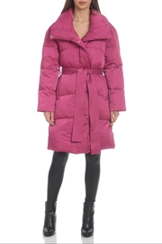 AVEC LES FILLES Water-Resistant Belted Puffer - Front cropped