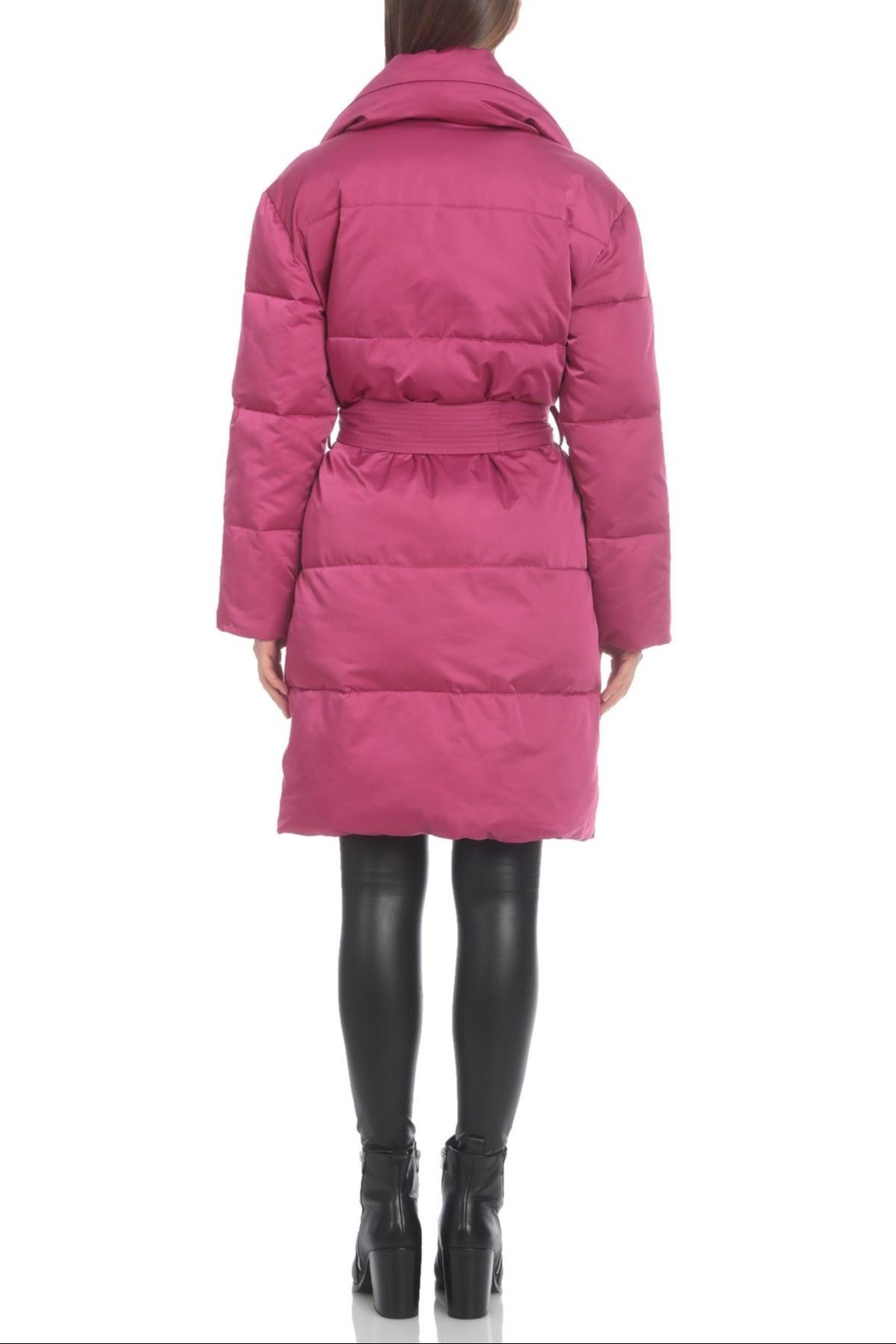 AVEC LES FILLES Water-Resistant Belted Puffer - Side Cropped Image