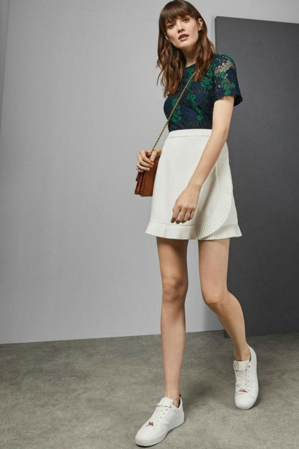 Ted Baker Avelina Ruffle Skirt - Side Cropped Image
