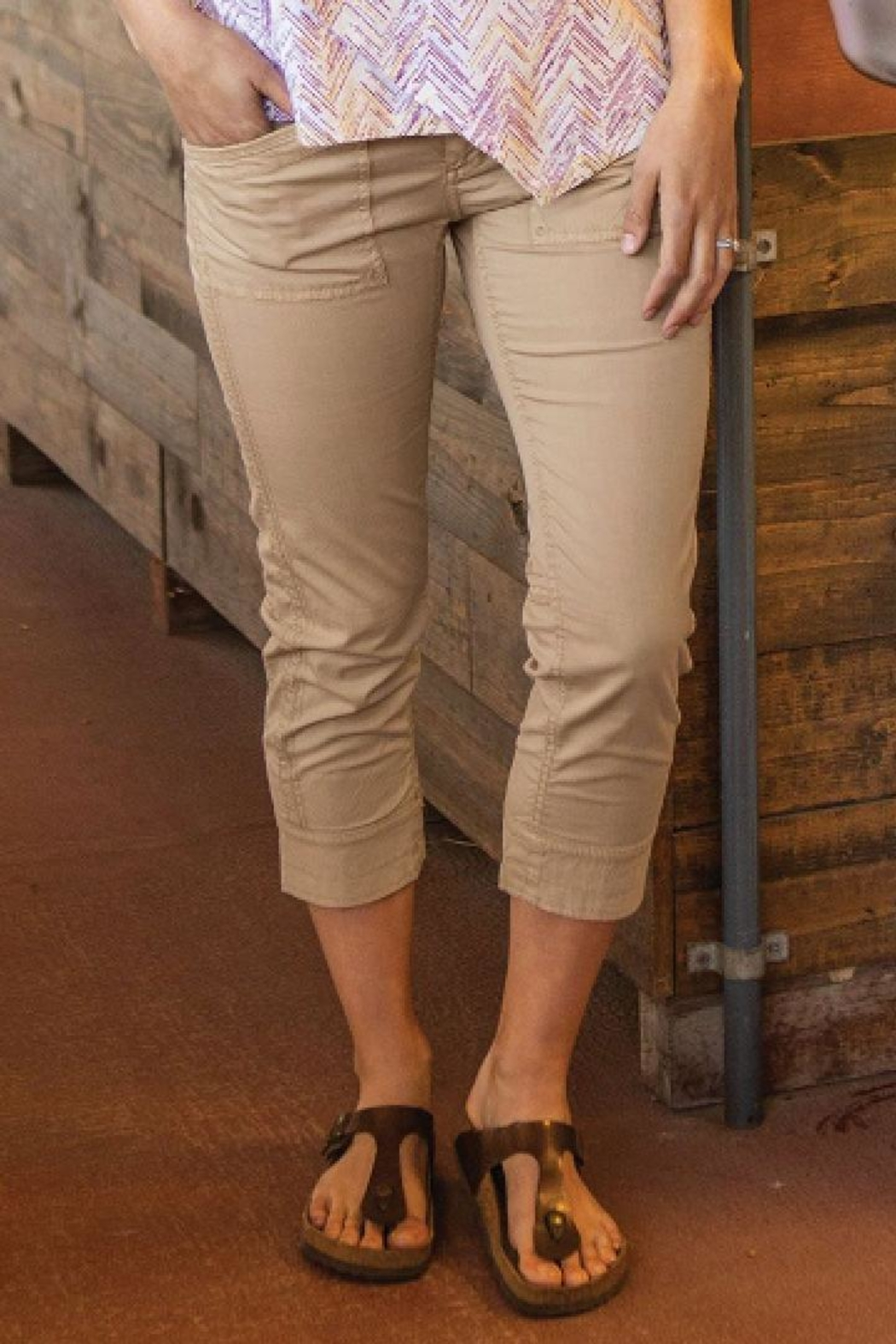 Aventura Cropped Sustainable Pant - Front Cropped Image