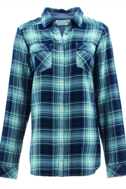 Aventura Plaid Snap Blouse - Front cropped