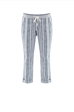 Aventura Striped Cotton Pants - Alternate List Image