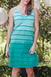 Aventura Clothing Cotton Striped Dress - Front full body