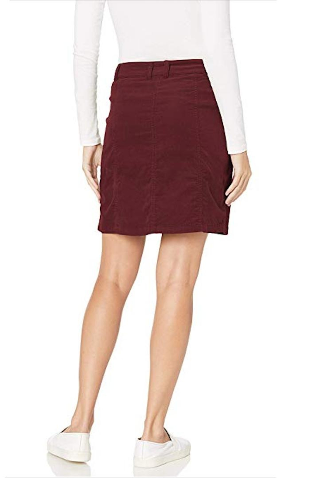 Aventura Clothing Organic-Corduroy Button-Front Skirt - Front Full Image