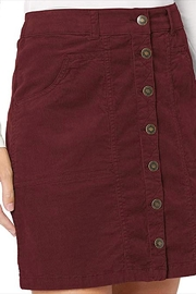 Aventura Clothing Organic-Corduroy Button-Front Skirt - Side cropped