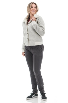 Shoptiques Product: Sherpa-Lined Textured Jacket