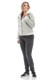 Aventura Clothing Sherpa-Lined Textured Jacket - Front cropped