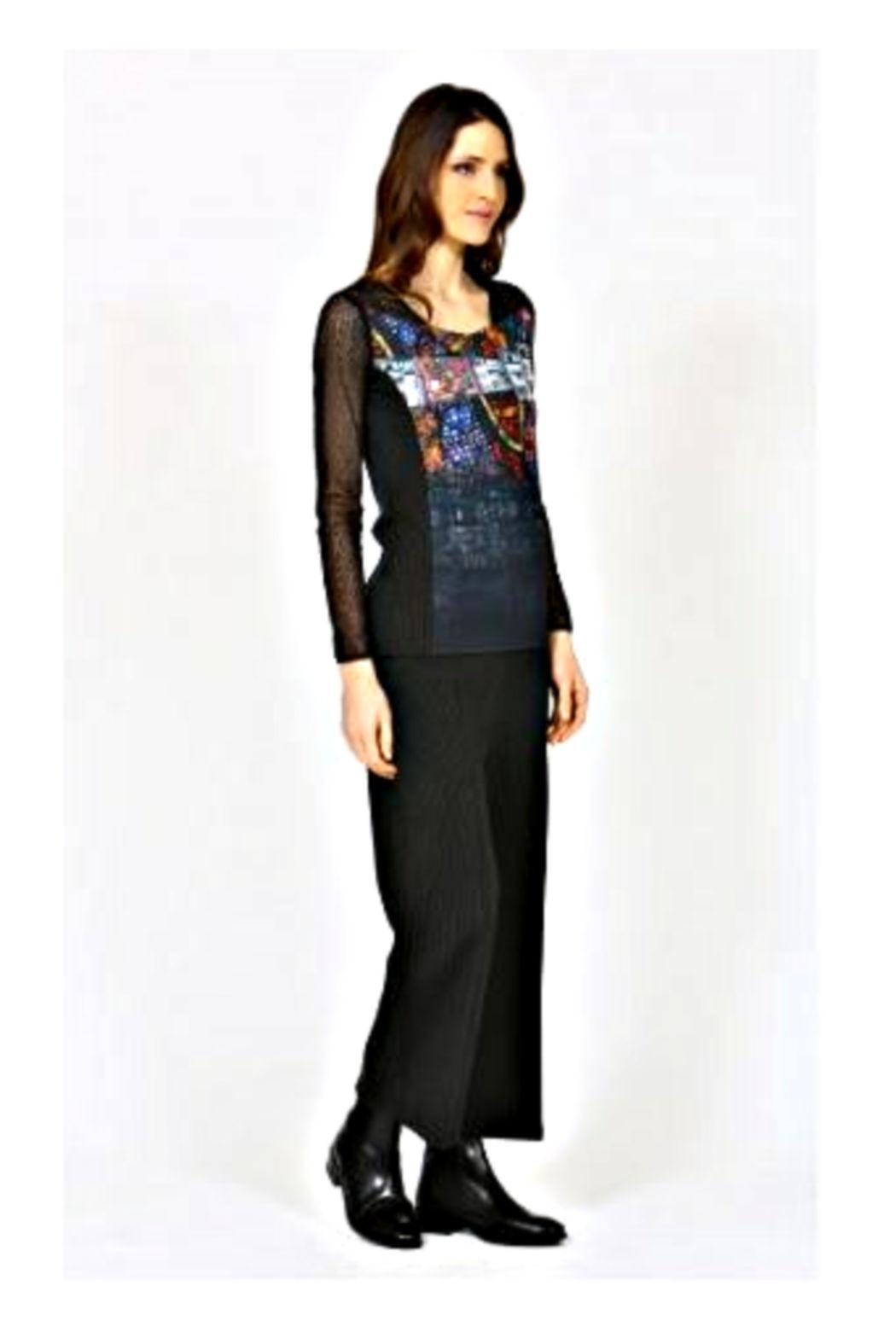 Aventures Des Toiles Lace Sleeve Top - Side Cropped Image
