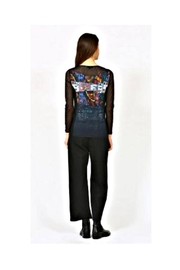 Aventures Des Toiles Lace Sleeve Top - Back cropped