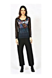 Aventures Des Toiles Lace Sleeve Top - Front full body