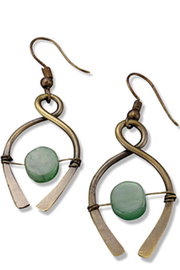 Anju Handcrafted Artisan Jewelry Aventurine Earring - Product Mini Image