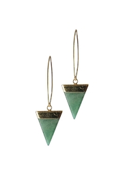 Larissa Loden Aventurine Triangle Earrings - Front cropped