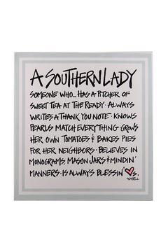 Shoptiques Product: Southern Lady Wall Decor