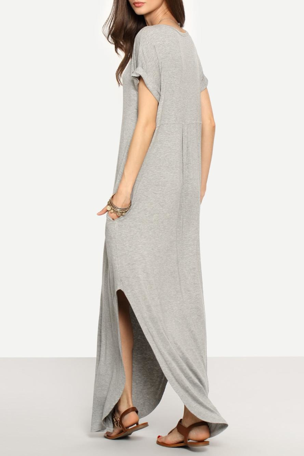 Avenue Hill Casual Shift Maxi Dress - Side Cropped Image