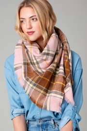 avenue zoe  Plaid Blanket Scarf - Product Mini Image