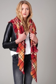 avenue zoe  Plaid Blanket Scarf - Front full body