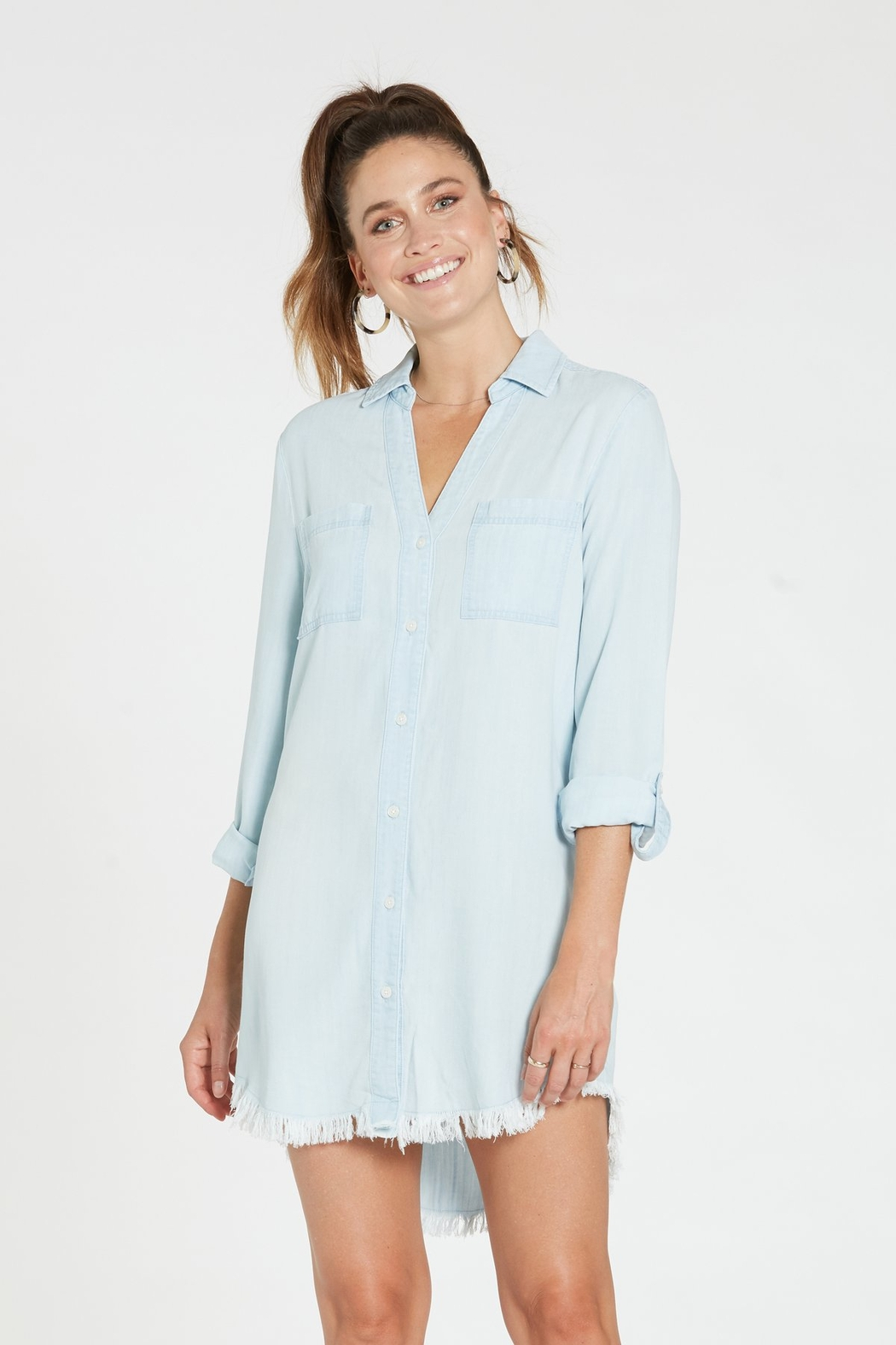 Dear john  Avery Frayed Hem Denim Dress - Main Image