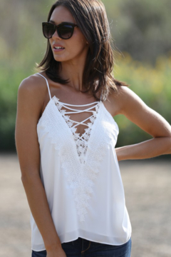 Wanna B Avery Lace Front Cami - Product List Image
