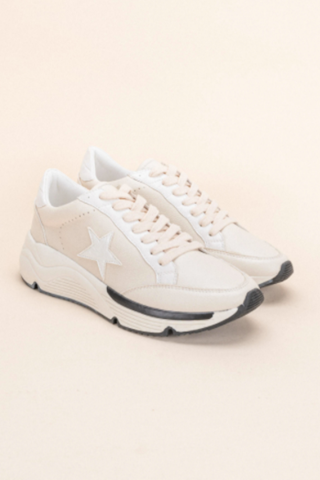 miracle miles  Avery Star Sneaker - Front Full Image