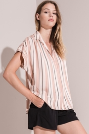 rag poets Avila Striped Button-Up - Product Mini Image