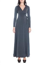 Avital Grey Wrap Maxi - Product Mini Image