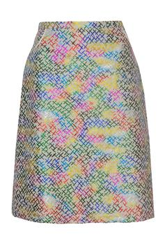 Shoptiques Product: Metallic Printed Skirt
