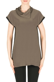 Joseph Ribkoff Avocado Black Top - Product Mini Image