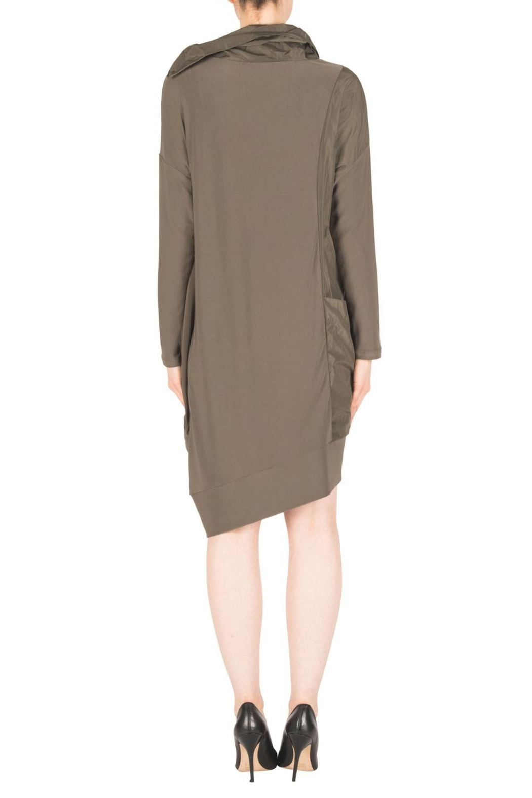 Joseph Ribkoff Avocado Dress Style - Side Cropped Image