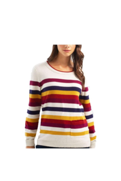Charlie B.  Awesome Autumn Stripe Sweater - Alternate List Image