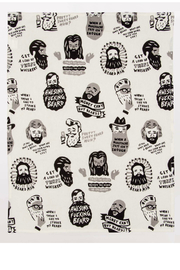 Blue Q Awesome fucking beard dish towel - Front full body