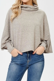 Awoo Turtle Neck Poncho - Front cropped