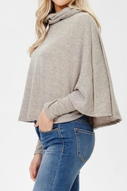 Awoo Turtle Neck Poncho - Front full body