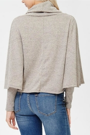 Awoo Turtle Neck Poncho - Side cropped