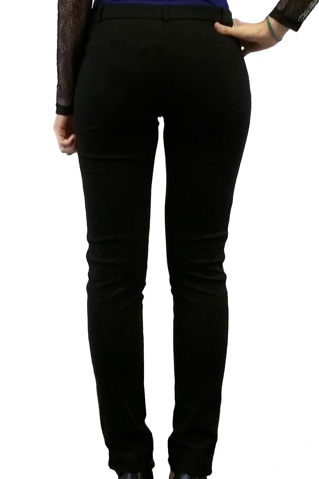 Axara Black Evening Trousers - Side Cropped Image