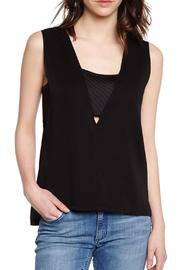 Axara Black Top - Front cropped
