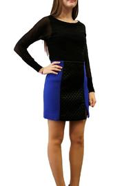 Axara Electric Blue Panel Skirt - Product Mini Image