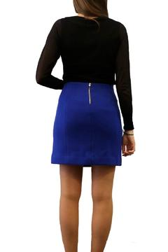 Axara Electric Blue Panel Skirt - Alternate List Image