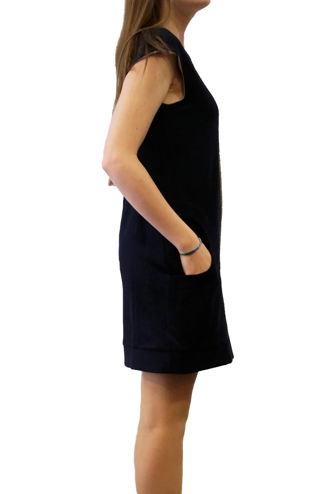 Axara Wool Dress Navy - Front Full Image