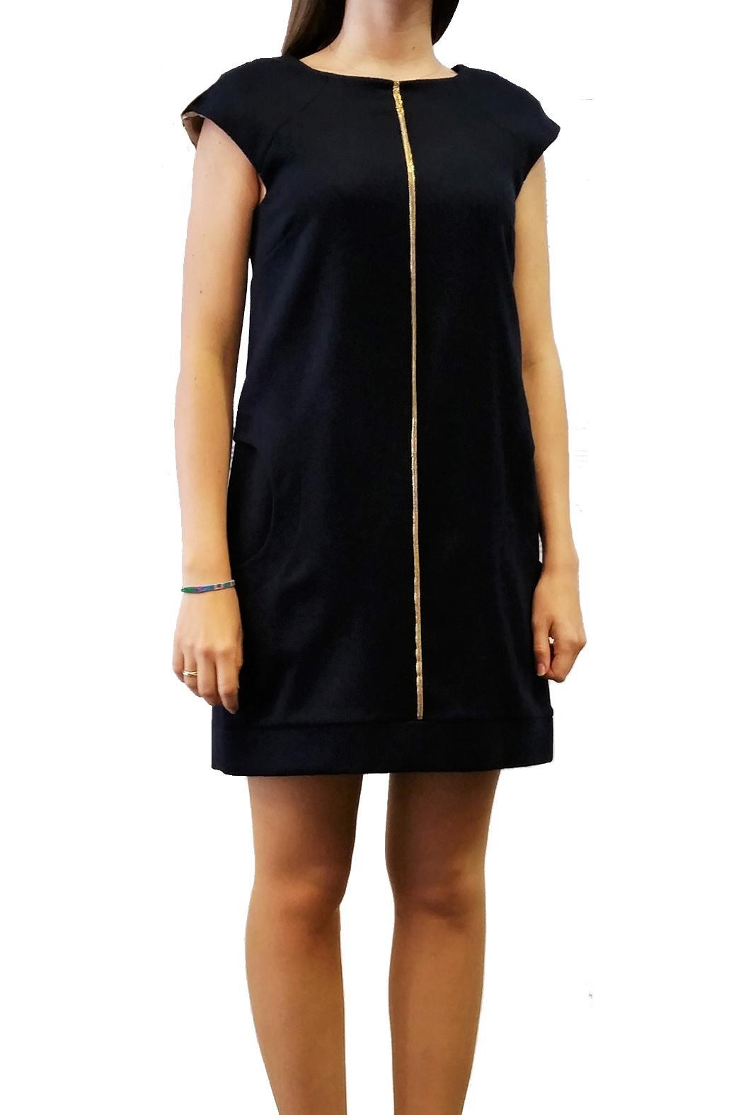 Axara Wool Dress Navy - Main Image