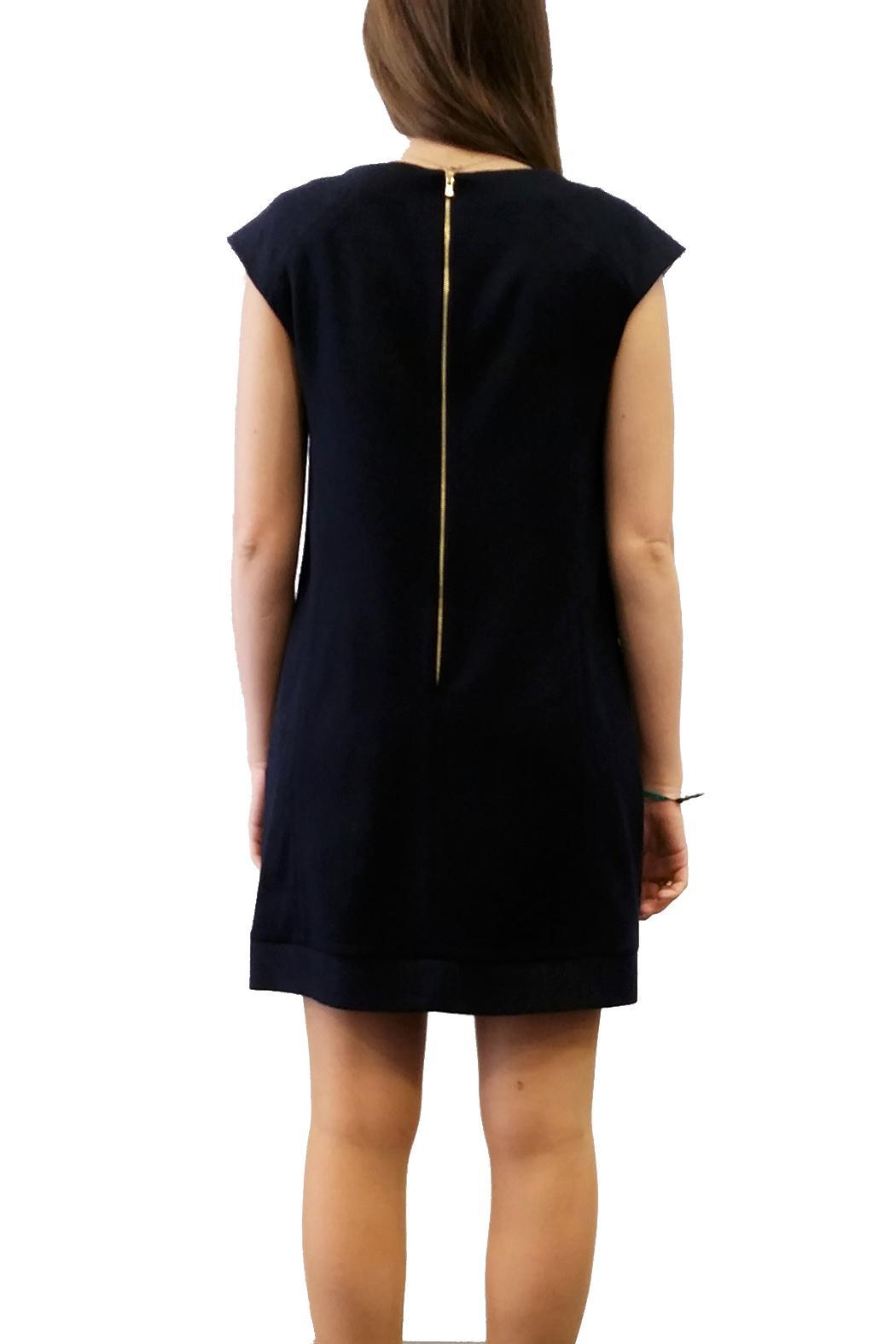 Axara Wool Dress Navy - Side Cropped Image