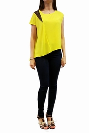 Axara Yellow Asymmetric Top - Product Mini Image
