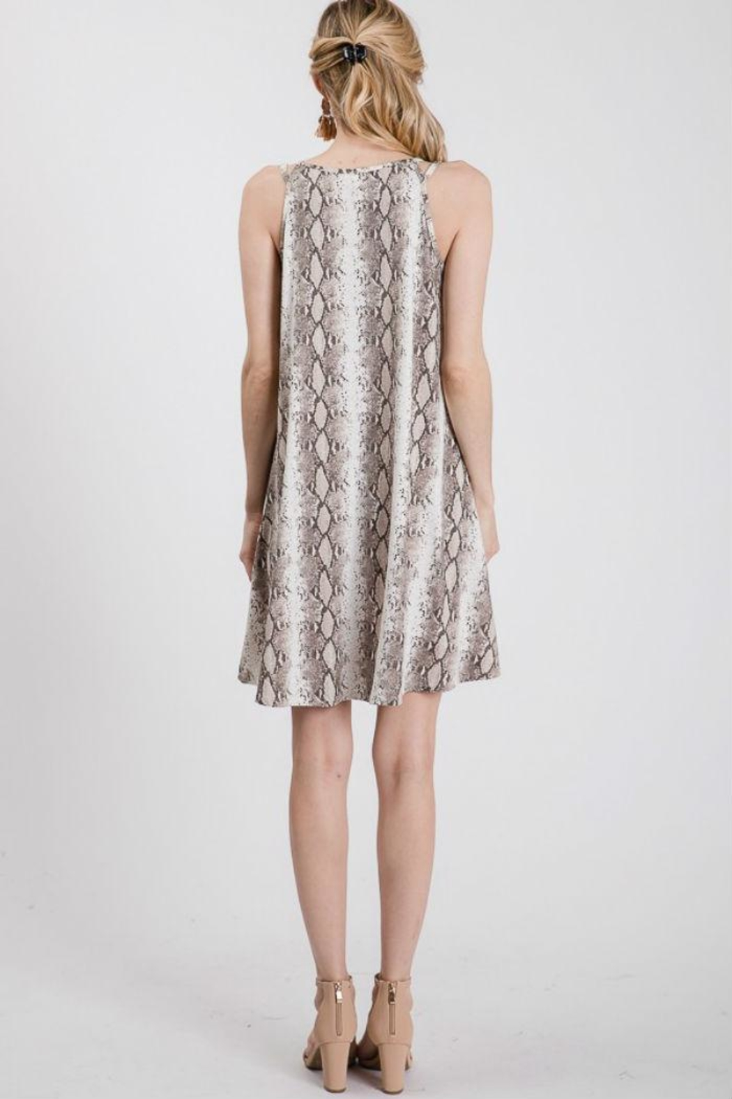 Axis Snake Print Dress - Front Full Image